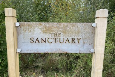 New sign for the Sanctuary. Looks awesome don't you think?